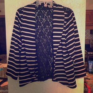 A black and white striped jacket